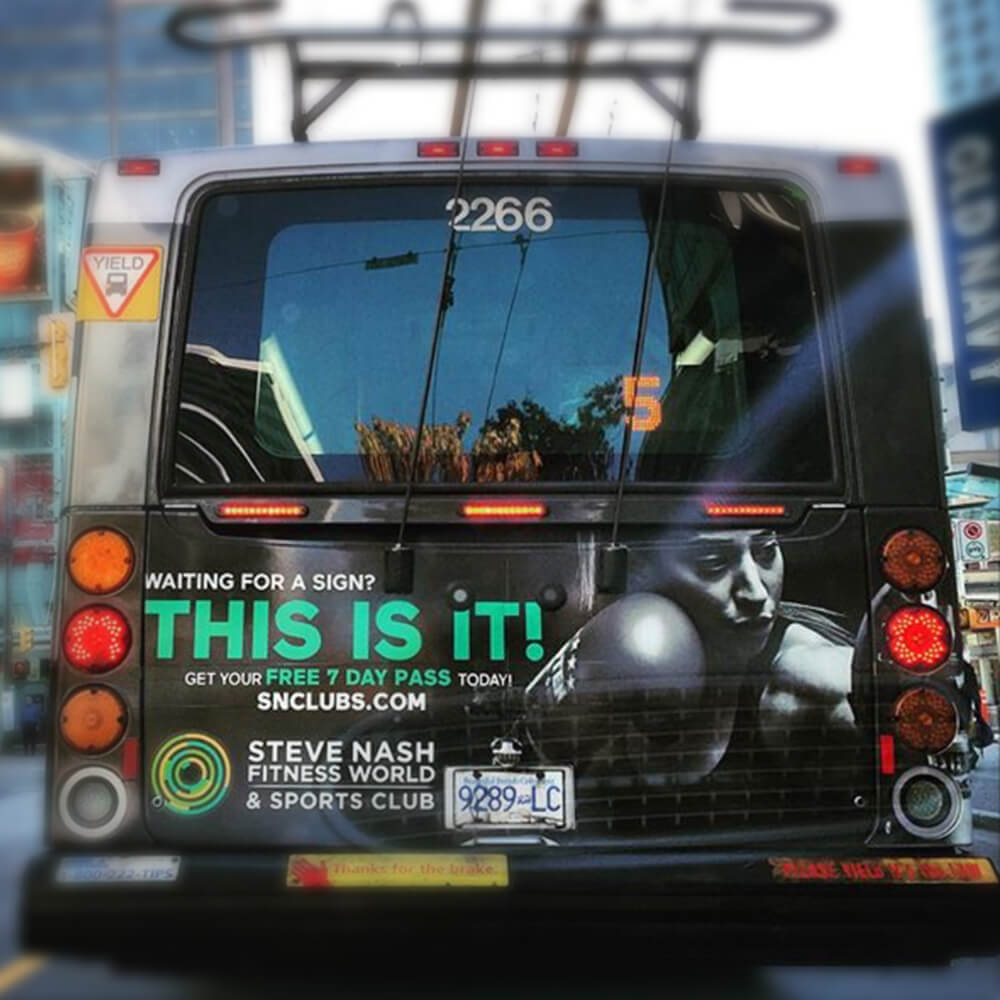 This is It - Bus Back Ad Concept