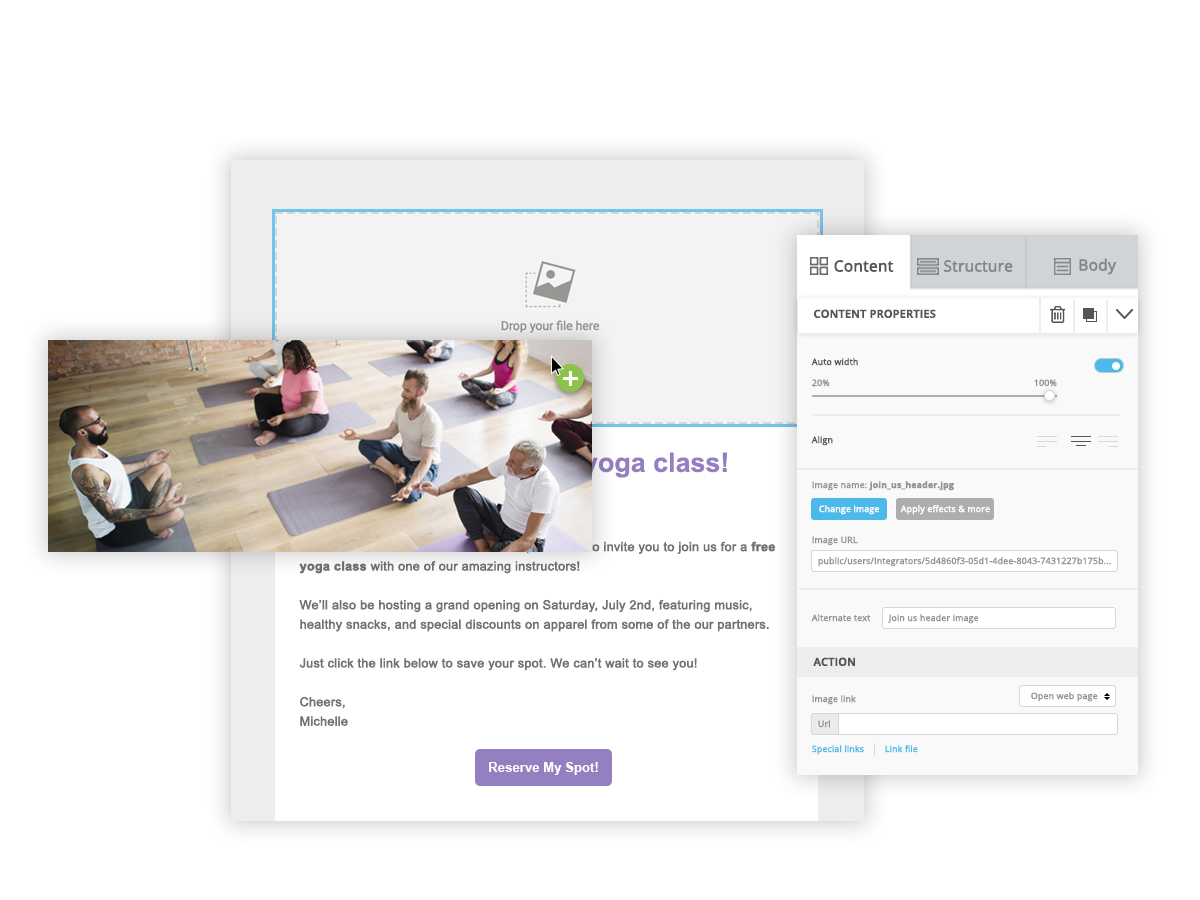 Website Redesign - Imagery: Email Editor