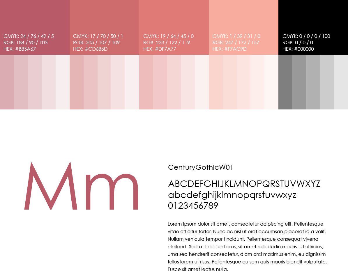 Get Lifted Colour Palette & Typography